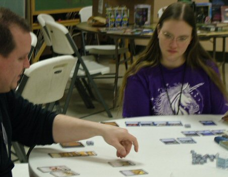 Magic the Gathering Players in Action